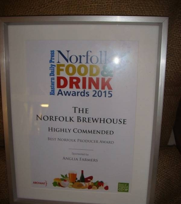 A proud finalist of Norfolk's Best Producer 2015
