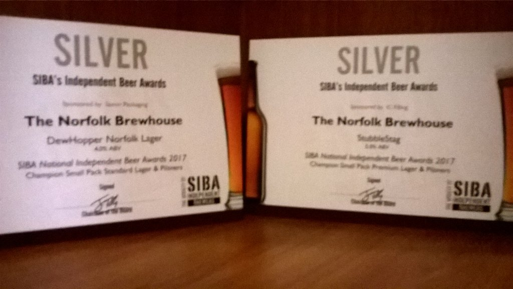 Scooping silvers as Norfolk lager wins 2 national awards